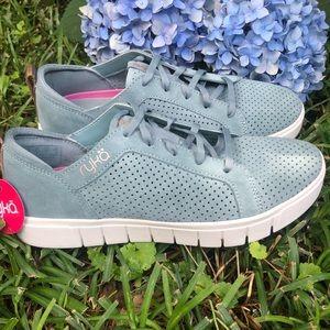 Ryka Haiku Perforated Suede Sneaker Sage Green